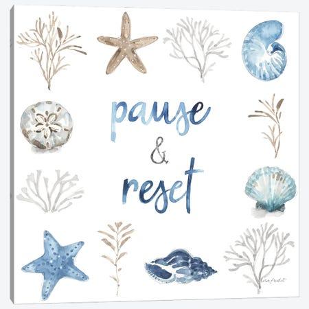 Blue Escape Coastal X Canvas Print #UDI401} by Lisa Audit Canvas Art Print