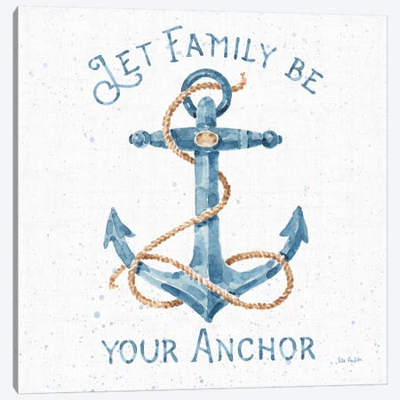 Nautical Life IV No Stripes Canvas Print #UDI64} by Lisa Audit Canvas Art