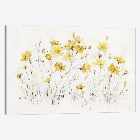Wildflowers I Bright Yellow Canvas Print #UDI67} by Lisa Audit Canvas Wall Art