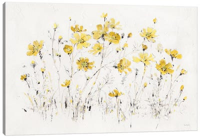 Wildflowers I Bright Yellow Canvas Art Print