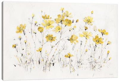 Wildflowers I Bright Yellow Canvas Art Print