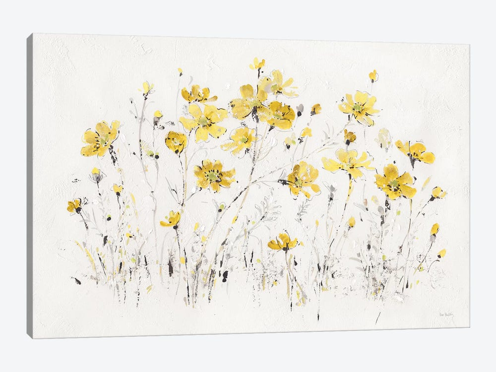 Wildflowers I Bright Yellow by Lisa Audit 1-piece Canvas Artwork