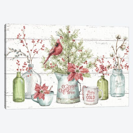 A Christmas Weekend I Shiplap} by Lisa Audit Art Print