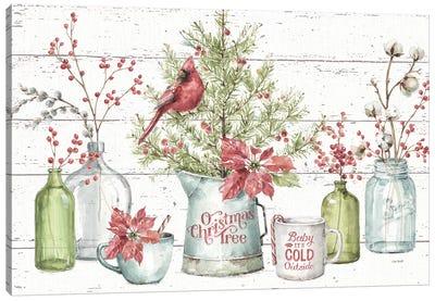 A Christmas Weekend I Shiplap Canvas Art Print