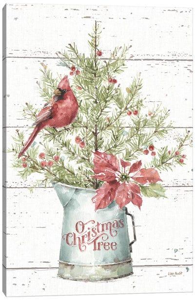A Christmas Weekend II Shiplap Canvas Art Print