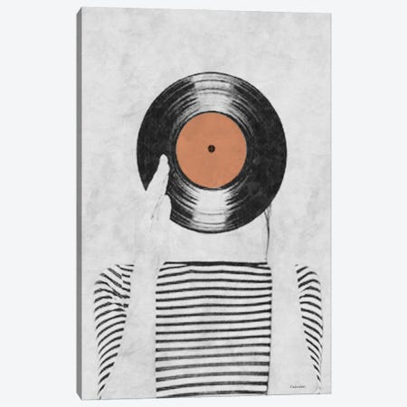 Vinyl Record Head Canvas Print #UDT144} by Underdott Art Art Print