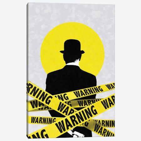 Warning Canvas Print #UDT150} by Underdott Art Canvas Art Print
