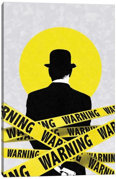 Warning Canvas Art Print