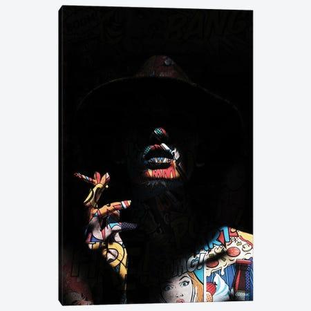 Pop Art In The Shadows Canvas Print #UDT157} by Underdott Art Canvas Wall Art