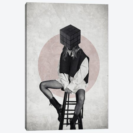 Cube Canvas Print #UDT28} by Underdott Art Canvas Wall Art