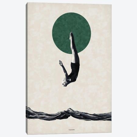 Dive Canvas Print #UDT39} by Underdott Art Canvas Art Print
