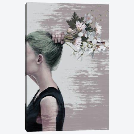Flower Ponytail Canvas Print #UDT52} by Underdott Art Art Print