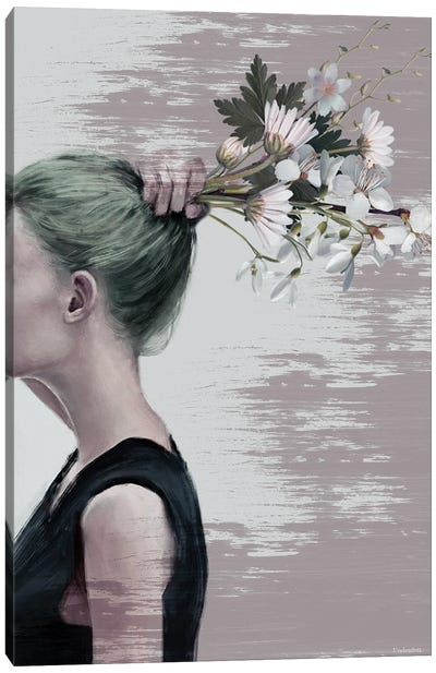 Flower Ponytail Canvas Art Print
