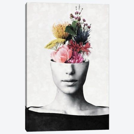 Flowery Beauty Canvas Print #UDT53} by Underdott Art Canvas Print