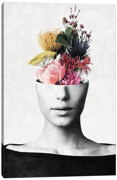 Flowery Beauty Canvas Art Print