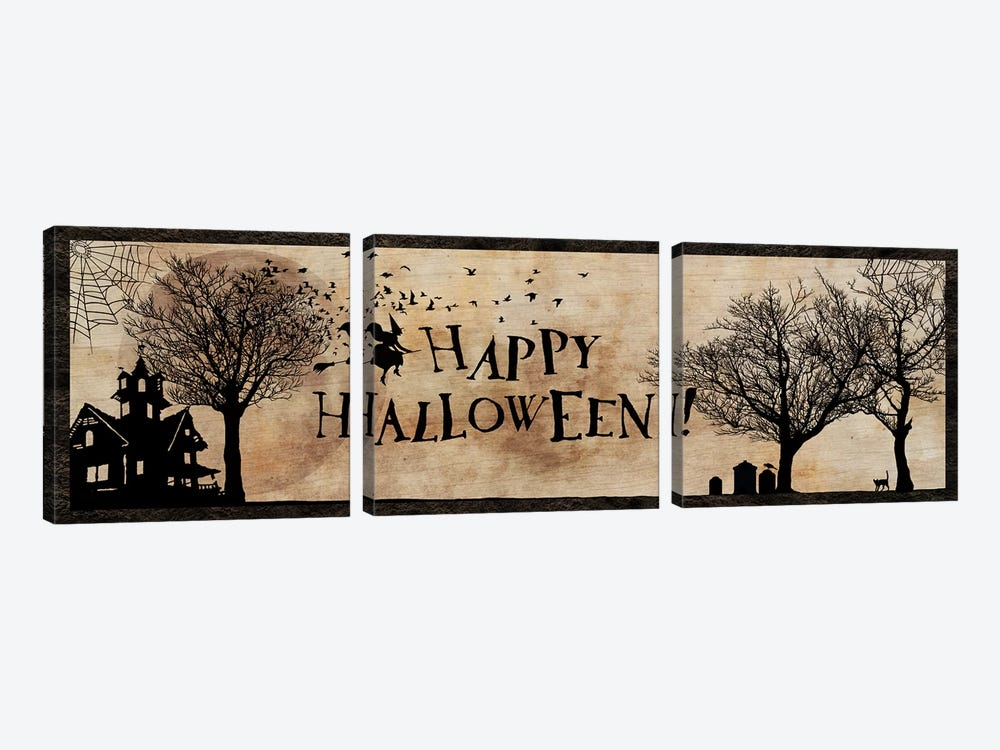 Happy Halloween by 5by5collective 3-piece Art Print
