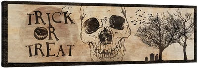 Trick or Treat With A Skull Canvas Art Print
