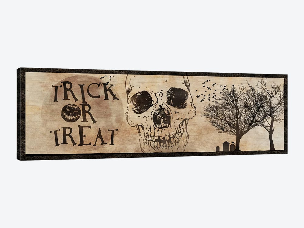 Trick or Treat With A Skull by 5by5collective 1-piece Canvas Print