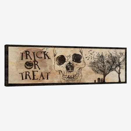 Trick or Treat With A Skull Canvas Print #UET4} by 5by5collective Canvas Print