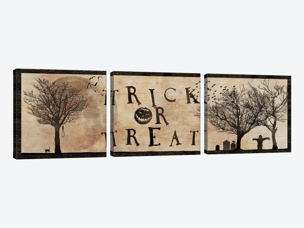 Trick Or Treat by 5by5collective 3-piece Canvas Wall Art