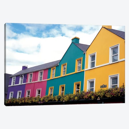 Colorful Architecture, Kenmare, County Kerry, Munster Province, Republic Of Ireland Canvas Print #UFF1} by David Barnes Canvas Art