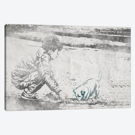 Digging Away Canvas Print #ULE15} by 5by5collective Canvas Wall Art