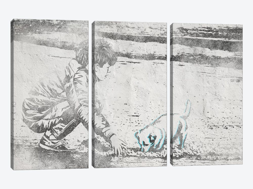 Digging Away by 5by5collective 3-piece Canvas Art