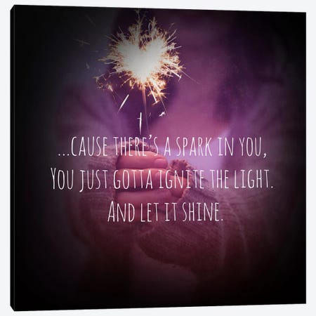 Let it Shine Canvas Print #ULE5} by 5by5collective Canvas Artwork