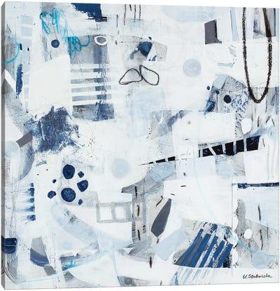 Blue Backpack Canvas Art Print