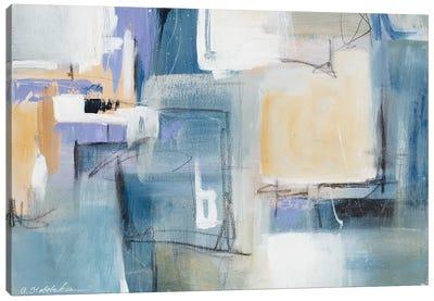 Blue Memory Canvas Art Print