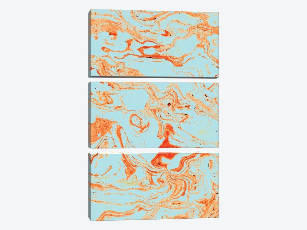 Flamingo + Sea Marble by 83 Oranges 3-piece Canvas Art