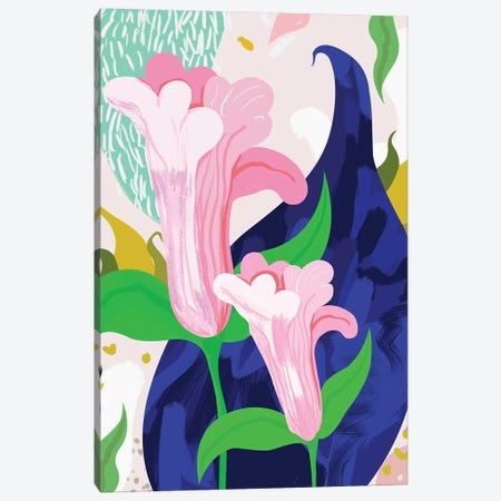 Blue Leaf Canvas Print #UMA101} by 83 Oranges Canvas Art