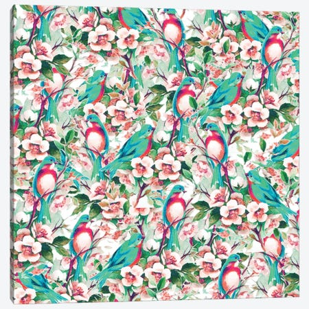 Birds & Flowers Canvas Print #UMA1053} by 83 Oranges Canvas Art