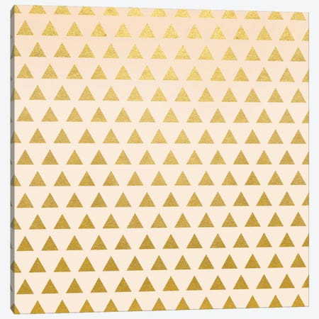 Blush + Gold Triangles Canvas Print #UMA1057} by 83 Oranges Canvas Art Print
