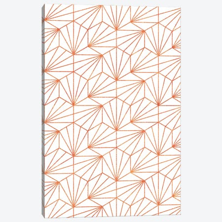 Rose Gold & White Canvas Print #UMA1061} by 83 Oranges Art Print