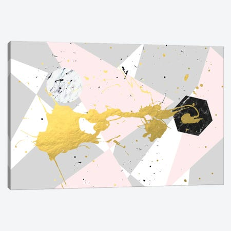 Gold Splatter Canvas Print #UMA1103} by 83 Oranges Canvas Wall Art