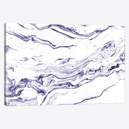 Navy Blue Marble Canvas Print #UMA1104} by 83 Oranges Canvas Art Print
