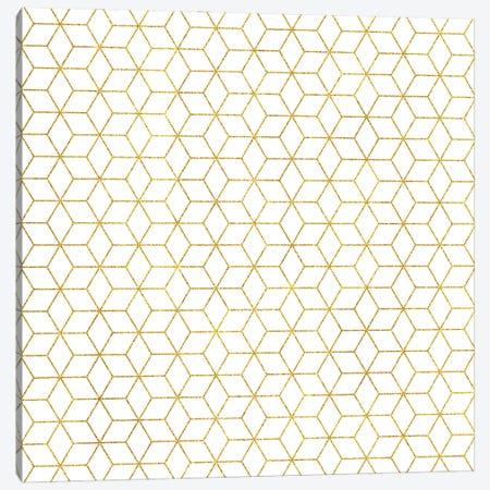Gold + Geometric Canvas Print #UMA1119} by 83 Oranges Art Print