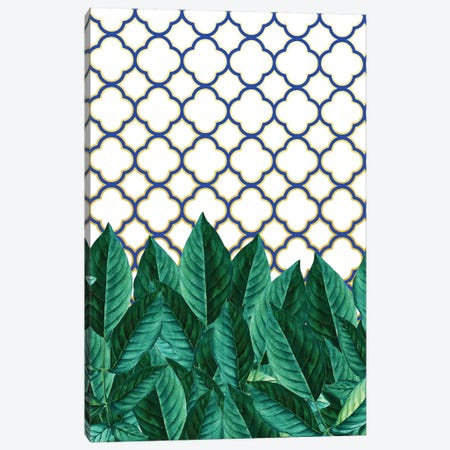 Leaves And Tiles Canvas Print #UMA111} by 83 Oranges Art Print
