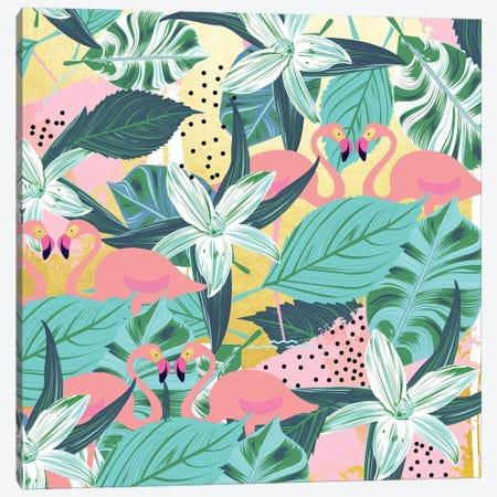 Flamingo Tropical Canvas Print #UMA1191} by 83 Oranges Canvas Print