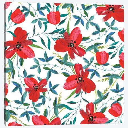 Red Blossom Canvas Print #UMA119} by 83 Oranges Canvas Print