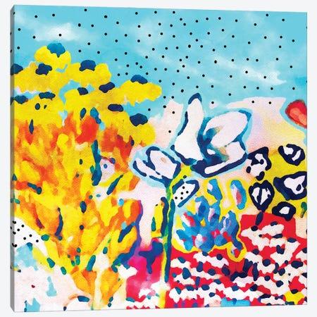 Floral Graffiti Canvas Print #UMA1269} by 83 Oranges Canvas Art Print