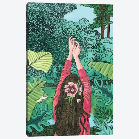 Comic Book Jungle Canvas Print #UMA132} by 83 Oranges Canvas Art Print
