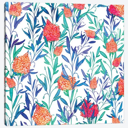 Vibrant Floral Canvas Print #UMA1361} by 83 Oranges Canvas Artwork