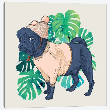 Got A Pug Canvas Print #UMA137} by 83 Oranges Canvas Wall Art