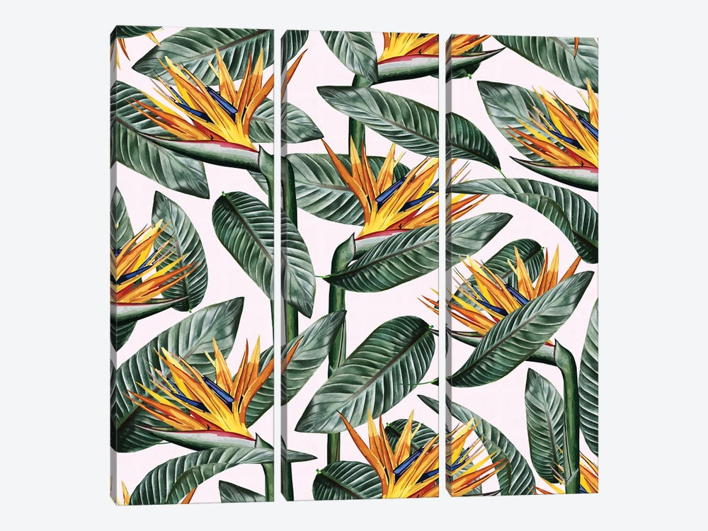 Bird Of Paradise Leaf by 83 Oranges 3-piece Canvas Art Print