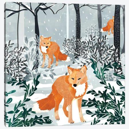 Fox Snow Walk Canvas Print #UMA1400} by 83 Oranges Canvas Print