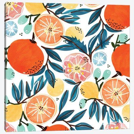 Fruit Shower Canvas Print #UMA1414} by 83 Oranges Canvas Art Print