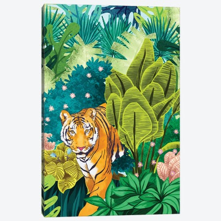 Jungle Tiger Canvas Print #UMA141} by 83 Oranges Canvas Artwork