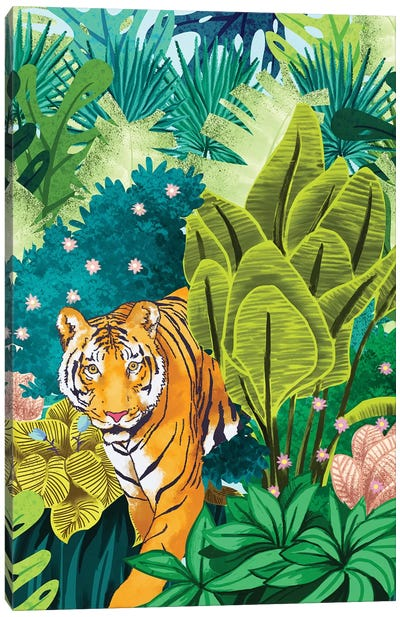 Jungle Tiger Canvas Art Print